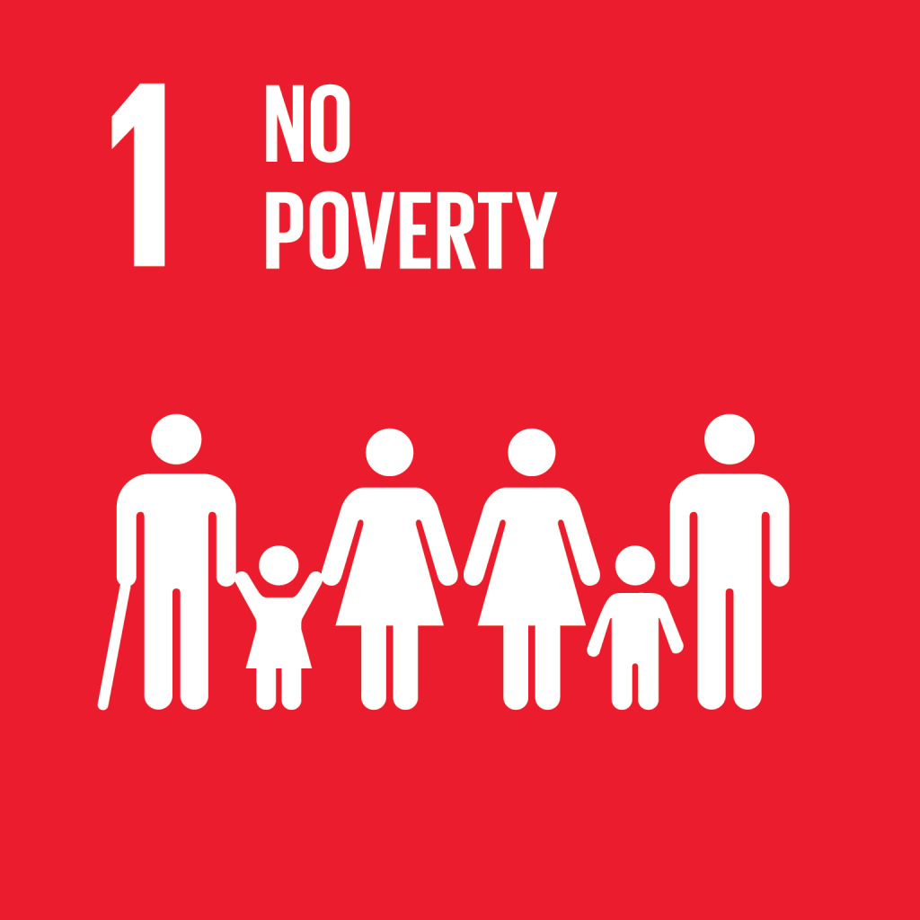 Icon for the first sustainable development goal no poverty