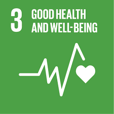 Icon for the third sustainable development goal good health and well-being